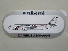 AUTOCOLLANT STICKER AUFKLEBER AIR LIBERTE AIRLINE AIRBUS A300-600R AIRLINER