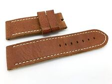 Brand New Panerai Brown leather band strap for Luminor Marina  model