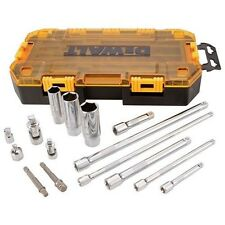 "Dewalt 15 Piece 1/4"" and 3/8"" Drive Socket Set Accessory Tool Kit 21367"