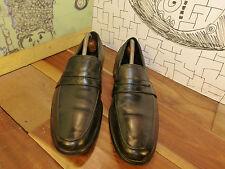 Auri Daytona Black Leather Handmade Loafers Euro Size 41, US 7.5-8
