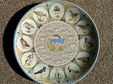 Wedgwood Calendar Year Plate - 1990 - Wading Birds (boxed)