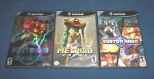 Nintendo Gamecube / Wii Game Lot ~ Metroid Prime + Prime 2 Echoes + Custom Robo