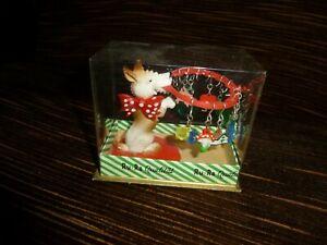 Glasmerker Glasanhänger Hund von Fa.Ru-Ra, in Verpackung, 50er Jahre