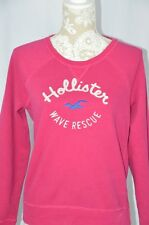 Hollister Women Large Pink Long Sleeve Pullover Sweatshirt Long Sleeve Crew Neck