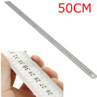 50CM Stainless Steel Double Side Scale Straight Ruler Measure Tool