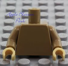 NEW Lego Girl/Boy Minifig Plain DARK TAN TORSO Star Wars Blank Body Upper Hands