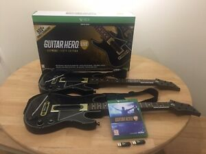 Guitar Hero Live Supreme Party Edition Xbox One- Two Guitars, Two Dongles, Game
