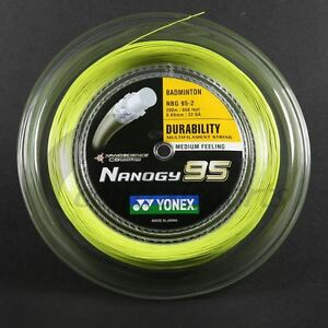 YONEX NANOGY 95 200M COIL BADMINTON RACKET STRING FLASH YELLOW COLOUR