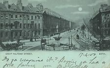 Bath,U.K.Great Pulteney Street,Used,Victoria 1/2 Pd.Stamp,Bath,1900