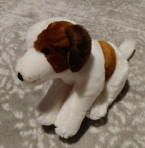 "Animal Alley RARE Puppy Dog Stuffed Animal Plush 14"" White & Brown Toys R Us"