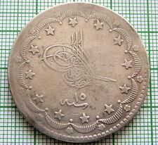 TURKEY OTTOMAN EMPIRE ABDULAZIZ 1277//10 - 1870 20 KURUS, SILVER
