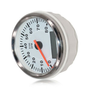 85mm 8000RPM Marine Tachometer Boat Yacht Outboard Engine LCD Gauge Hourmeter al