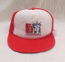 Vintage Trucker Hat Coke Coca Cola Statue Of Liberty Mesh Foam Front Snapback