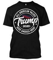Donald Trump All American values 2020 2nd Amendment Trump Shirt New Mens MAGA