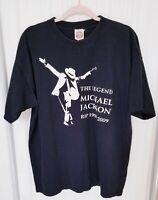 Womens Michael Jackson Tee T-Shirt RIP King Of Pop 1958-2009 Black Sz XL Cozumel
