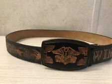 Men's Leather GoldWing Belt And Buckle Size 32 - 34