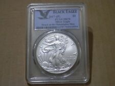 "2017 (P) Silver Eagle PCGS MS70 ""BLACK EAGLE LABEL"" Struck At Philadelphia Mint"