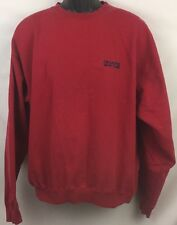 Vintage Chaps Ralph Lauren Crewneck Sweater Cotton Poly Red And Blue Large