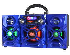 Fully Powered 600 Watts Portable Bluetooth Multimedia Speaker Boom Box - Blue