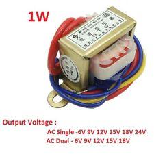 EI28 1W Power Transformer 220V TO 6V/9V/12V/15V/18V/24V Output AC Single/Dual