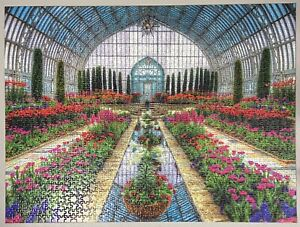 Ravensburger Jigsaw Puzzle Atrium Garden Flowers 1500 Pieces 100% completed
