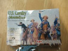 """Paragon """"Mounted Cavalry Set #3 ( BLUE)"""" 54mm Plastic Soldiers"""
