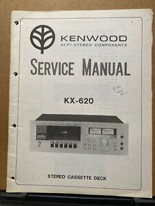 Original Service Manual for the Kenwood KX-620 Cassette Tape Deck
