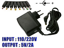 Boitier Alim Externe AC 220V vers DC 5V - 2A + 8 EMBOUTS