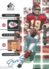 Joe Montana 1999 Upper Deck SP Signature Edition Performances Auto graph #J7A