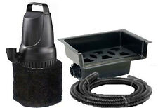 "1200 GPH Pond Pump and 14"" Waterfall Spillway Combo Kit + Tubing and Filter"