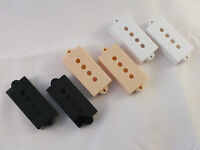 Pair of  PICKUP COVERS in BLACK, CREAM or WHITE to fit Precision P Bass guitar