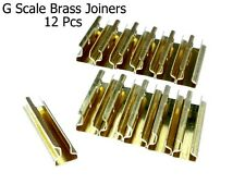 G scale Model Train Brass Track Rail Joiners (12 pieces)