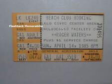 ROGER WATERS 1985 Concert Ticket Stub LAKELAND FLORIDA Pink Floyd VERY RARE