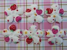 50 Strawberry Cotton Print Fabric Flower Applique/Trim/Quilt/Padded/Sewing L45