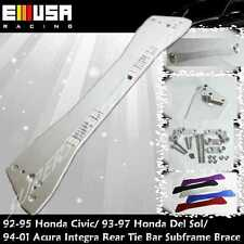 EMUSA Rear Tie Bar Subframe Brace SILVER for 1992-1995 Honda Civic