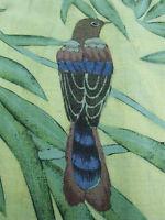 Tommy Bahama Men's Linen Birds Green Palms Aloha Hawaiian Camp Shirt Large EUC