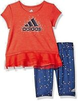 New Adidas Girls' 2-Piece Energy Capri Set