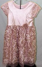 Bonnie Jean Gold  Dress Pageant Pictures Wedding Tea Holiday Party Size 6X