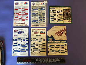 Minnesota Twins 24 Schedule Magnet Collecton 1990-2014 1997 Missing