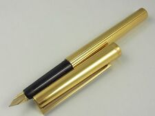S.T. Dupont Classic Vermeil Sterling Silver 925 Pinstripe Fountain Pen F