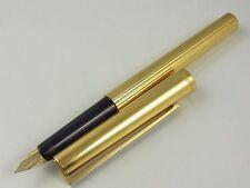 S.T. Dupont Classic Vermeil Pinstripe Fountain Pen F