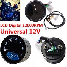 12000 RMP kmh Universal LCD Digital Odometer Speedometer Tachometer Gauge LED TR