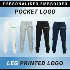 Personalised Embroidered Boys Girls Kids Joggers School Sports Jogging Trousers