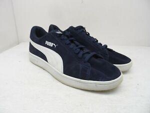 PUMA Men's Smash v2 Athletic Casual Shoe Navy/White Size 13M