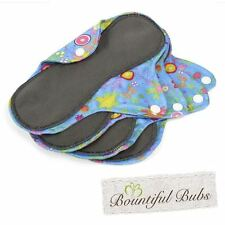 Reusable Washable Organic Bamboo Cloth Pads. Med. 4 Pack. Bountiful Bubs SG
