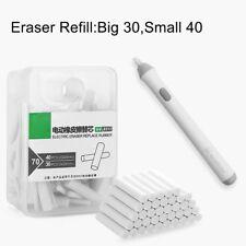 2.3mm 5mm Art Supply Electric Eraser Refills - White Eraser Strips - 70/BX