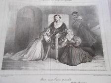 Caricature Litho 1836 Au temps de Luther non vous l'avez maudite