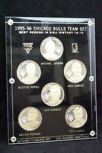 1995-96 Chicago Bulls Team Set Silver 6 Coins .999 fine silver 27 of 196 NBA