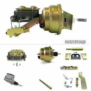 "1960-62 Chevy Truck C10 MT Firewall Mount Power 7"" Dual Booster Kit Disc/Disc"