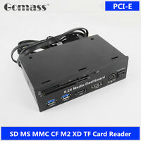 PCI-E PCIE USB 3.0 Hub media dashboard SD TF CF XD M2 MS Card Reader Front Panel